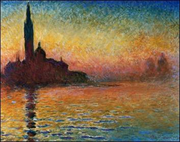 Puesta de sol en Venecia, por Monet