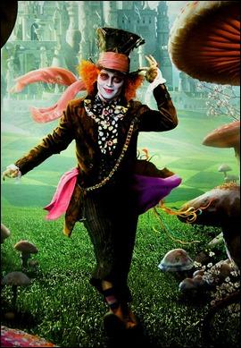 Johnny Depp como el Sombrerero Loco