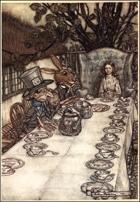 La Merienda Loca, por A. Rackham