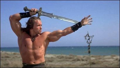 Conan y su acerada espada