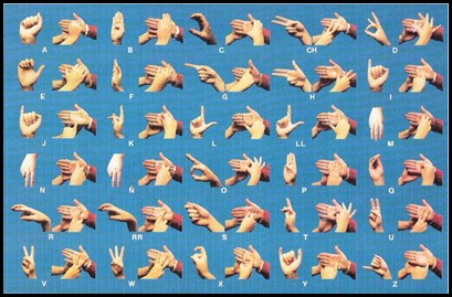 El alfabeto de los sordos y ciegos