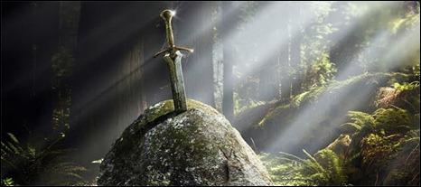 La espada en la piedra