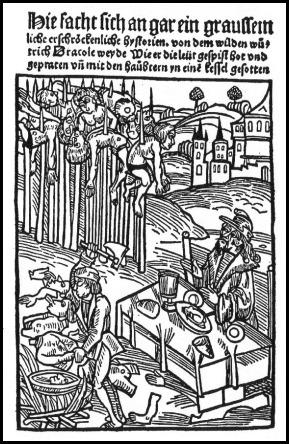 Vlad el Empalador, según un grabado del siglo XV