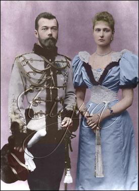 Nicolas y Alejandra Romanov