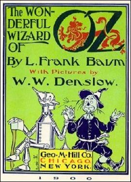 Portada de la edición original de El mago de Oz, por W.W. Denslow