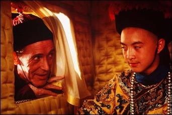 Peter O'Toole como el preceptor de Pu Yi