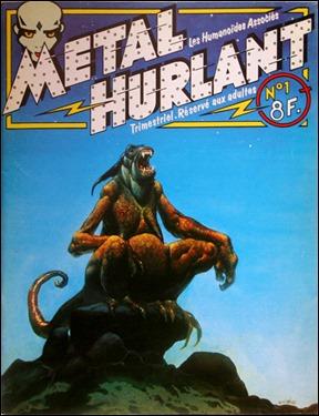 Portada del nº 1 de Métal Hurlant