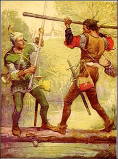 Robin Hood, ilustración de Louis Rheaad (1912)