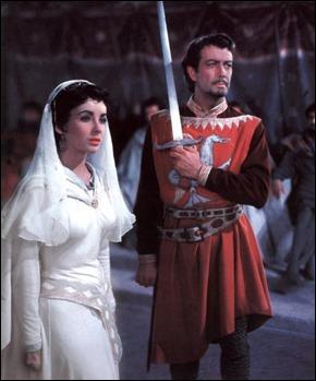 El noble Ivanhoe y la bella Rebecca