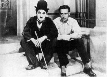 Edgar Neville, con Charlot