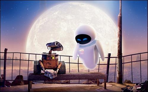 La pareja Wall-E y Eva