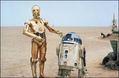 C3PO y R2 D2, los entrañables androides de Star Wars