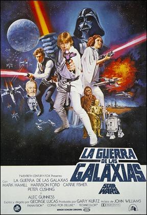 Cartel del estreno de La Guerra de las Galaxias