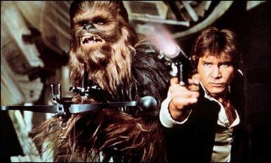 Chewbacca y Han Solo contra los guardias de asalto