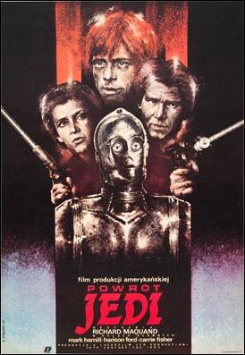 Curioso cartel polaco de El retorno del Jedi