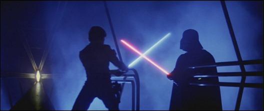 Duelo entre Luke y Vader