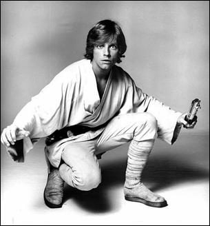 El joven Mark Hamill, como Luke
