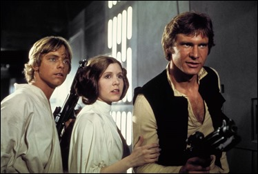 Luke, Leia y Han
