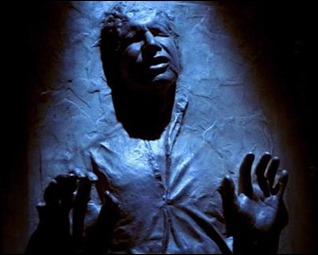 Mítica imagen de Han Solo congelado en carbonita