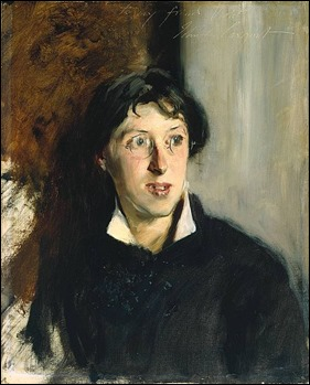 Retrato de Vernon Lee por John Singer Sargent