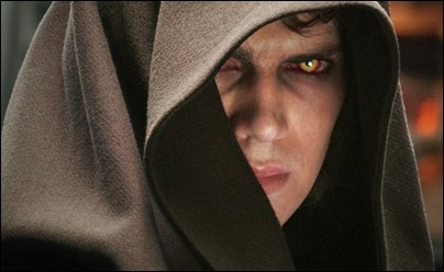 Anakin ya bajo la influencia del Lado Oscuro