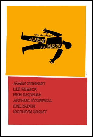 Cartel del gran Saul Bass para Anatomía de un asesinato