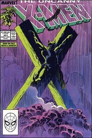 Lobezno crucificado en la portada de Uncanny 251