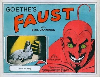 Poster de la versión de Fausto por F.W. Murnau