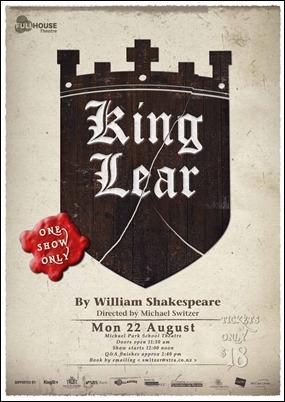 El rey Lear, función teatral