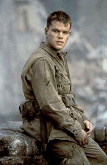 Un joven Matt Damon como el soldado Ryan