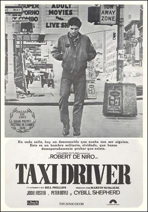 Cartel español de Taxi Driver