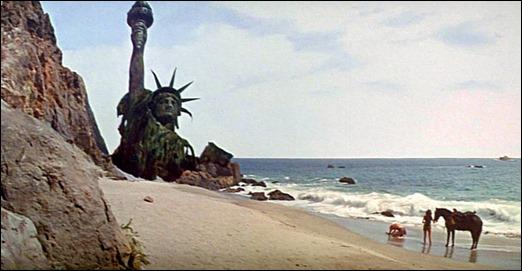 Cómo olvidar esta imagen de la Estatua de la Libertad en el final de El planeta de los simios