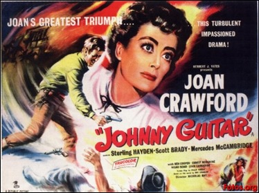 Curioso y trepidante cartel de Johnny Guitar