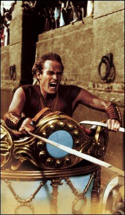 La famosa escena de las cuádrigas de Ben-Hur
