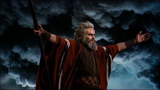 Moisés en Los Diez Mandamientos, de Cecil B. DeMille