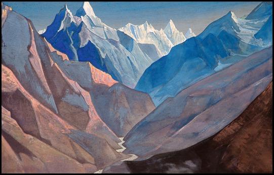 Tal vez, las montañas de la locura, según Roerich...