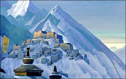 Uno de los lienzos de Nikolai Roerich que tanto impresionaron a Lovecraft