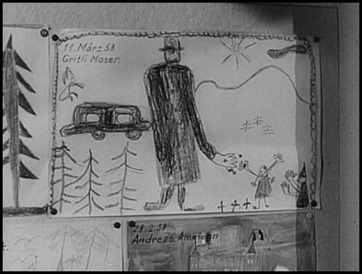 El gigante y los erizos del dibujo infantil