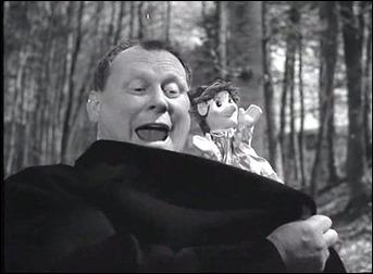 El mago Schrott seduciendo a la niña