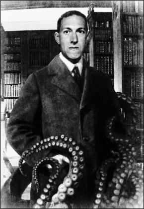 Lovecraft a punto de ser absorbido por Cthulhu
