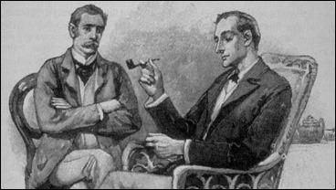Holmes y Watson, por su retratista original Sidney Paget