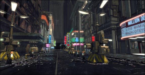 La calle donde se alza el Edificio Bradbury