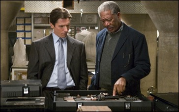 Lucius Fox, o sea, Morgan Freeman
