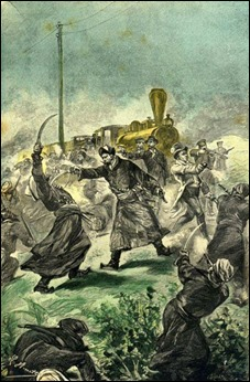 Momento de acción en Claudius Bombarnac