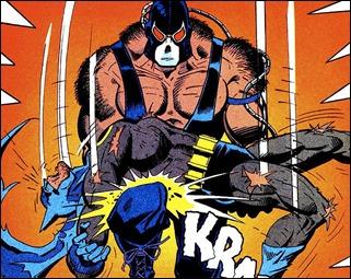 Bane rompe la espalda de Batman en los comics