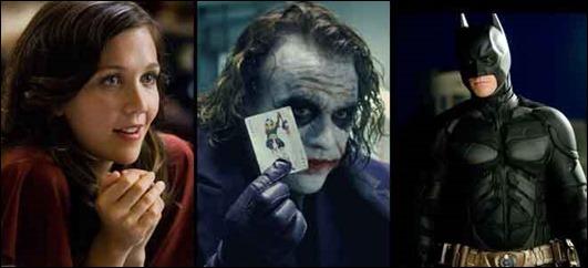 El Joker entre Rachel y Batman