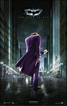 Estupenda variante del poster de la película, centrada en el Joker