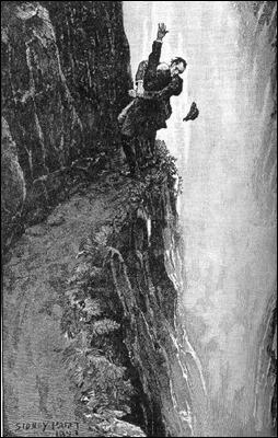 La famosa caída de Holmes y Moriarty en las cataratas de Reichenbach