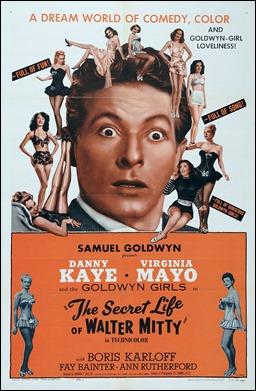 Magnífica cartel americano del Walter Mitty de Danny Kaye