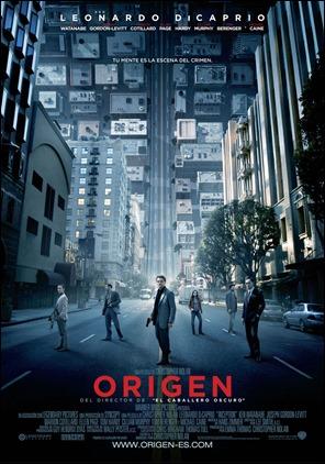 Poster de Origen, de Christopher Nolan